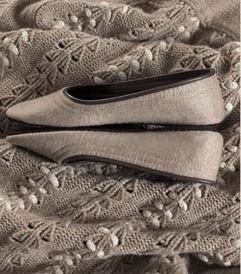 Agnona cashmere slippers