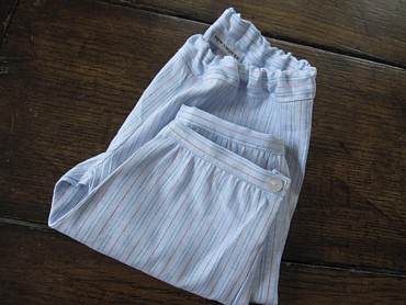Cuffed pants coastal stripe