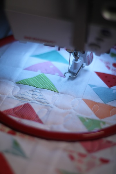 Doll quilt quilting