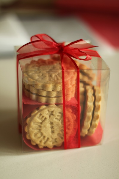 Shortbread packaged
