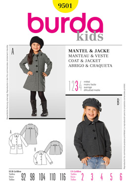 Burda 9501 coat pattern