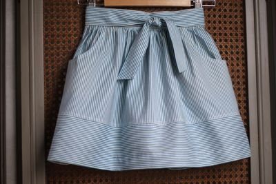 Striped skirt front
