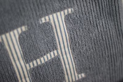 Monogrammed towels detail