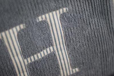 Monogrammed towels detail