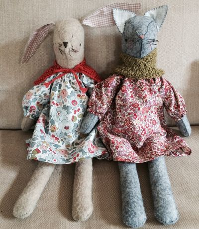 Maggie Rabbit and Juniper Kitty