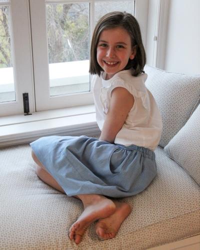 Adelaide in skirt